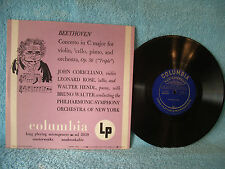 "Bruno Walter, Beethoven Concerto in C Major, Columbia ML 2059, 10"" 33, Classical"