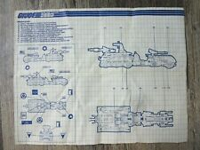 Marauder  Vintage  Blueprints/Instructions GI JOE   #4