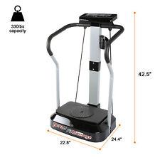 2000W Whole Body Vibration Machine Exercise Platform w/Resistance Straps