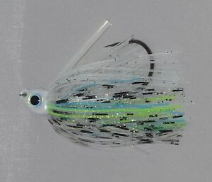 Kajun Boss 3/8 oz (3 PACK) toxic Shad Swim jig FREE SHIPPING!!!