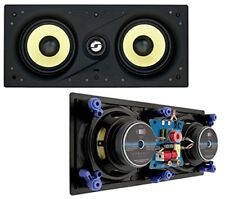 "Fidelity W5 LCR Dual 5.25"" 80W RMS In-Wall Speaker made with DuPont™ Kevlar® NEW"