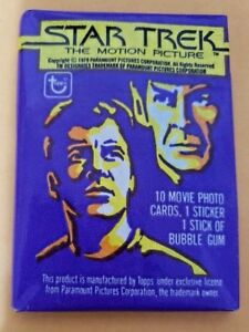 Lot 4x Star Trek Motion Picture (1979) Topps Trading Cards Wax Pack New Sealed