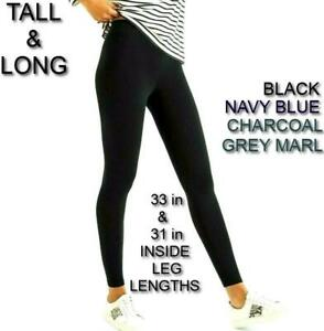 New TALL Long WOMENS Ladies PREMIUM High WAIST Leggings EXTRA Soft UK Size 6-28