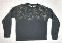 BANANA REPUBLIC Women's Sweatshirt Large Grey Long Sleeve Crew Neck Cotton L