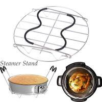 Multifunction Pressure Cooker Heating Cooking Steam Rack Silicone Handles AU