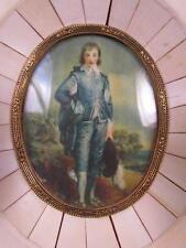 ANTIQUE MINIATURE PORTRAIT PAINTING copy of THOMAS GAINSBOROUGH, BOY IN BLUE