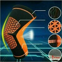 Football pad Running Sports Leg Calf Support Stretch Compression Socks Sleeve *