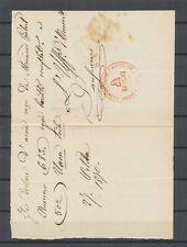 1870 Lettre rare cachet rouge LEGIONE VOLONTARI ITALIANI 1° BATTAGLIONE X4926