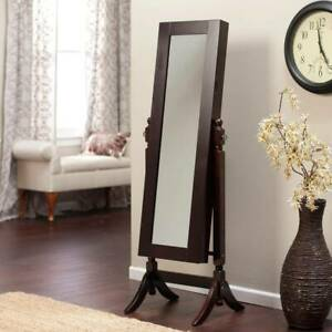 Jewelry Armoire Cheval Mirror