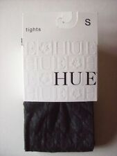 HUE Tights Footed Women's Small S 1 Pr Black Houndstooth NIP