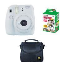 Fujifilm instax mini 9 Instant Film Camera, Smokey White + 20 Prints + Case