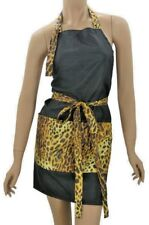 Funky Hair Stylist Salon Apron Dog Groomers Cheetah-Black Water Resist Finish