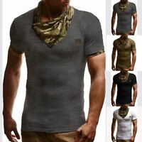New Men's Slim Fit Camouflage Short Sleeve Muscle Tee T-shirt Casual Tops Blouse
