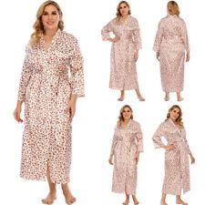 Womens Casual Loose Robe Open Kimono Nightwear 3/4 Sleeve Maxi Dress Plus Size