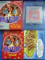 Nintendo Gameboy Pokemon Red Version Pocket monsters GB Japan w/box manual map