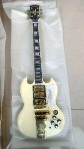 Custom Shop SG Cream White Color With Tremolo Electric Guitar