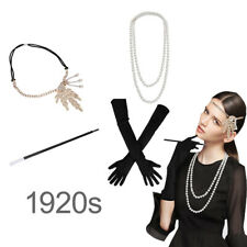 1920s Great Gatsby Hair Accessories Women Flapper Headpiece Headband Necklace
