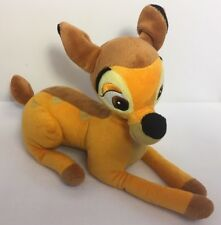 "Disney Bambi Plush 12"" Stuffed Animal Short Hair Great Condition Clean/Nice"
