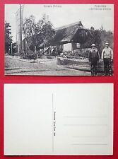 AK KUHRISCHE NEHRUNG um 1915 Fischerhütte mit Typen Fischer  ( 32310