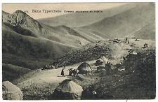 Kirgiz Temporary Camp in Mountains, Turkestan Area, Russian Asia, 1910s