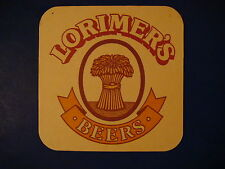 Beer Brewers Coaster ~*~ Lorimer's Scotland Brewery Formerly Caledonian-Heineken