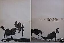 """Picasso PABLO (1881-1973) Lithographie de 1961 """"Toros y Toreros"""" Mourlot CAO"""
