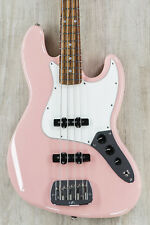 G&L USA JB Jazz Style Bass, Shell Pink, Carribean Rosewood Fretboard