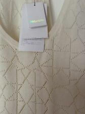 BNWT 100% Auth Zadig & Voltaire, Deby Pointelle Cream Iconic Tank Top M RRP £150