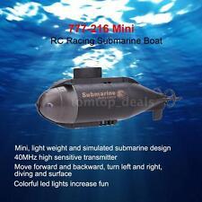 777-216 Mini RC Racing Submarine Boat R/C Toys w/40MHz Transmitter Super 6C4O