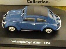 1/43 Atlas VW Brezel Käfer 1950 blau Volkswagen Collection 7225001