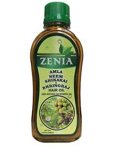 200ml Zenia Amla Neem Shikakai Bhringraj Hair Oil for Thinning Hair & Hair Loss