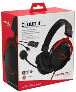 HyperX - KHX-HSCP-RD - Cloud II  Wired Gaming Headset - Black/Red