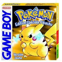 Pokemon Nintendo Game Boy Color Cartouche Jaune Version Anglaise
