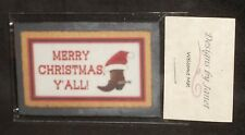 Welcome Mat - Merry Christmas Cowboy Boot Y'All 1:12 Carpet Rug House Door Mini