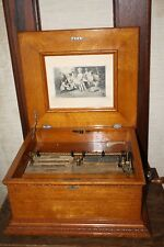 Antique Imperial Symphonion Disc Music Box, Quarter Sawn Oak 13.5  20+ Discs