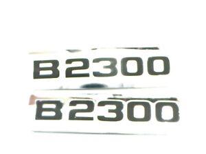 01-09 MAZDA TRUCK B2300 PICKUP EMBLEM OEM CHROME FENDER EMBLEM QTY 2