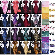 Silk Mens Ties Necktie Red Blue Black Gold Pink Geometric Floral Striped Men TIE