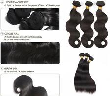 100% Unprocessed Brazilian Virgin Human Hair Extensions 100g Weave weft