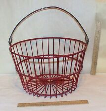WIRE BASKET - EGG / PRODUCE / APPLE / VEGETABLE / FARM BASKET - used - no. two