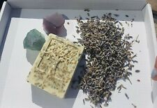 Lavender soap scrub bar made  and coconut oil.  vegan and cruelty free