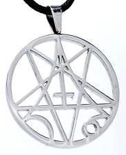 Nº 80 pentagrama acero inoxidable remolque ー cruz Satán diablo pentagrama