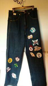 Negro League Baseball Players Association Embroidered Denim Jeans SZ 32 x32