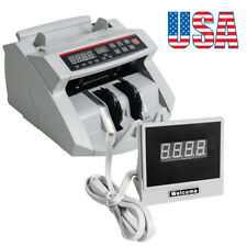 US!Money Bill Counter Cash Counting UV MG Counterfeit Detector Bank Checker 2-5d