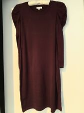 Calvin Klein Womans Purple Dress With Puff Long Sleeve Size S