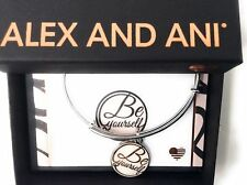 Alex and Ani BE YOURSELF Bangle Bracelet Shiny Silver New Tag Box Card