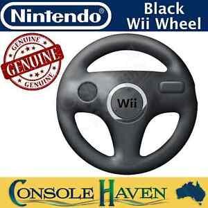 Nintendo Wii Wheel Black Mario Kart Racing Accessory Genuine Original Wii U WiiU