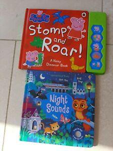 Baby sound books Usborne and peppa