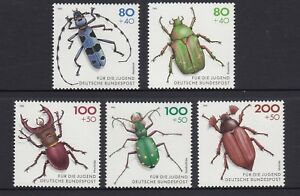 GERMANY - 1993 YOUTH WELFARE FUND  set of 5 MNH - BEETLES  ,Insects ,Wildlife