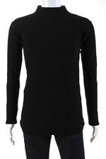 Rick Owens Mens Turtleneck Long Sleeve Sweater Shirt Top Black Size S