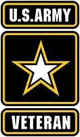 US ARMY VETERAN HELMET STICKER TOOLBOX STICKER LUNCH BOX HARD HAT STICKER LAPTOP